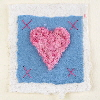 Handmade Valentines cards with natural fibres
