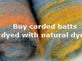 Buy carded batts dyed with natural dyes