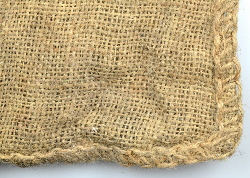 Hessian sack made from the natural fibre jute